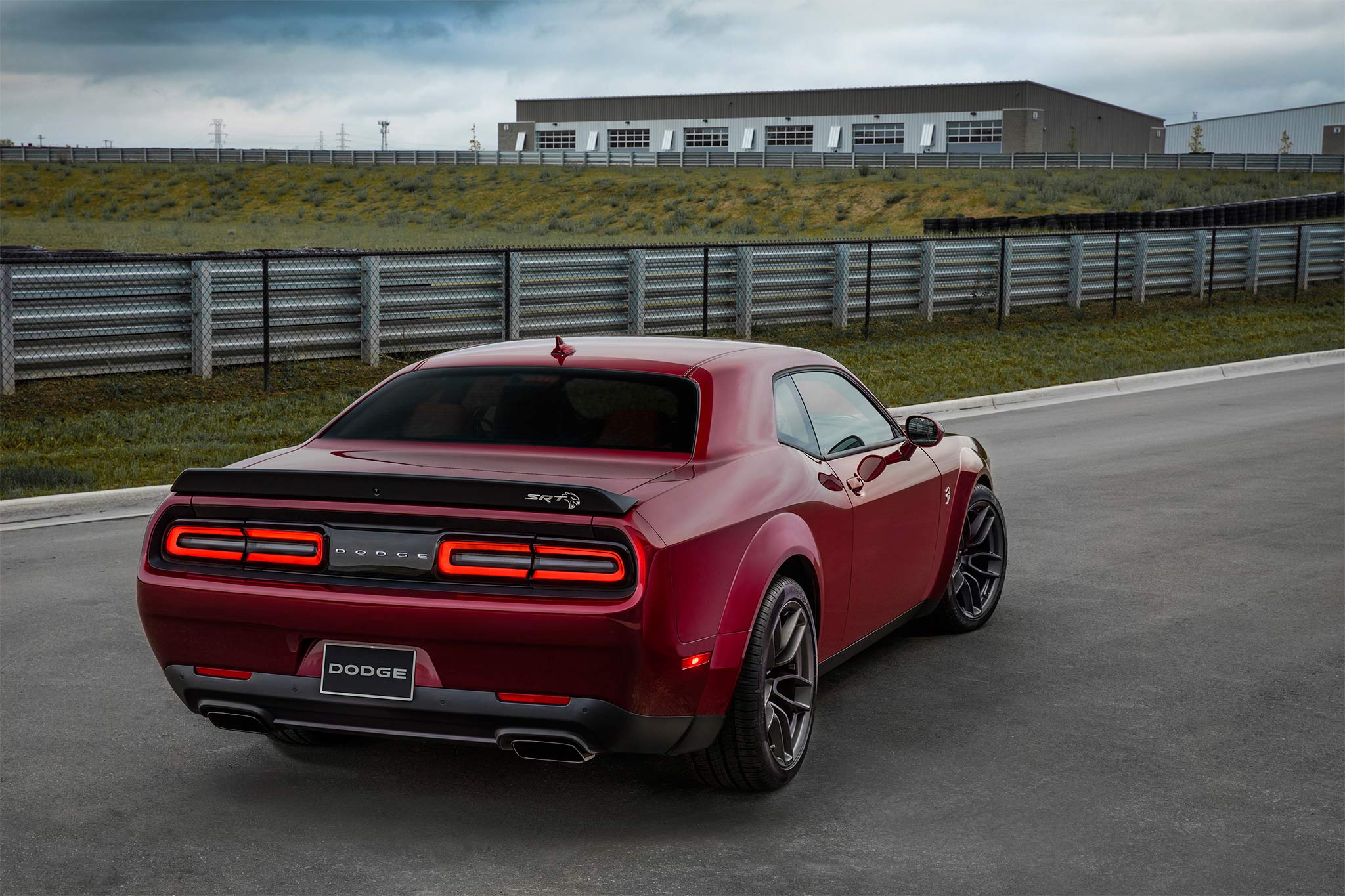 2018 Dodge Challenger SRT Hellcat rear three quarter 02